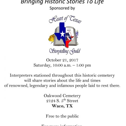 Oakwood Cemetery - Walking Tales 2017